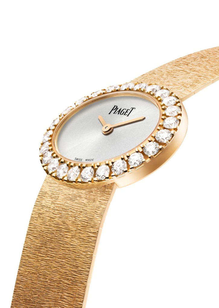 Piaget Traditional oval watch 27 x 22 mm, in 18K pink gold set with 24 brilliant-cut diamonds