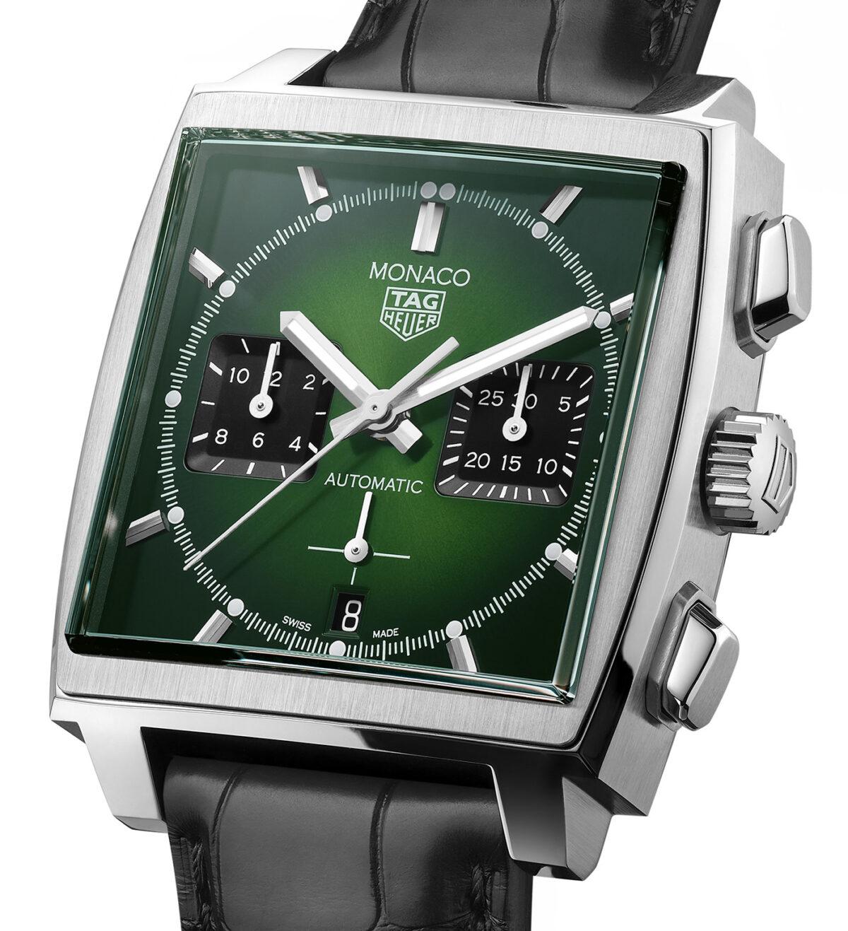 TAG Heuer Monaco Green Dial 3
