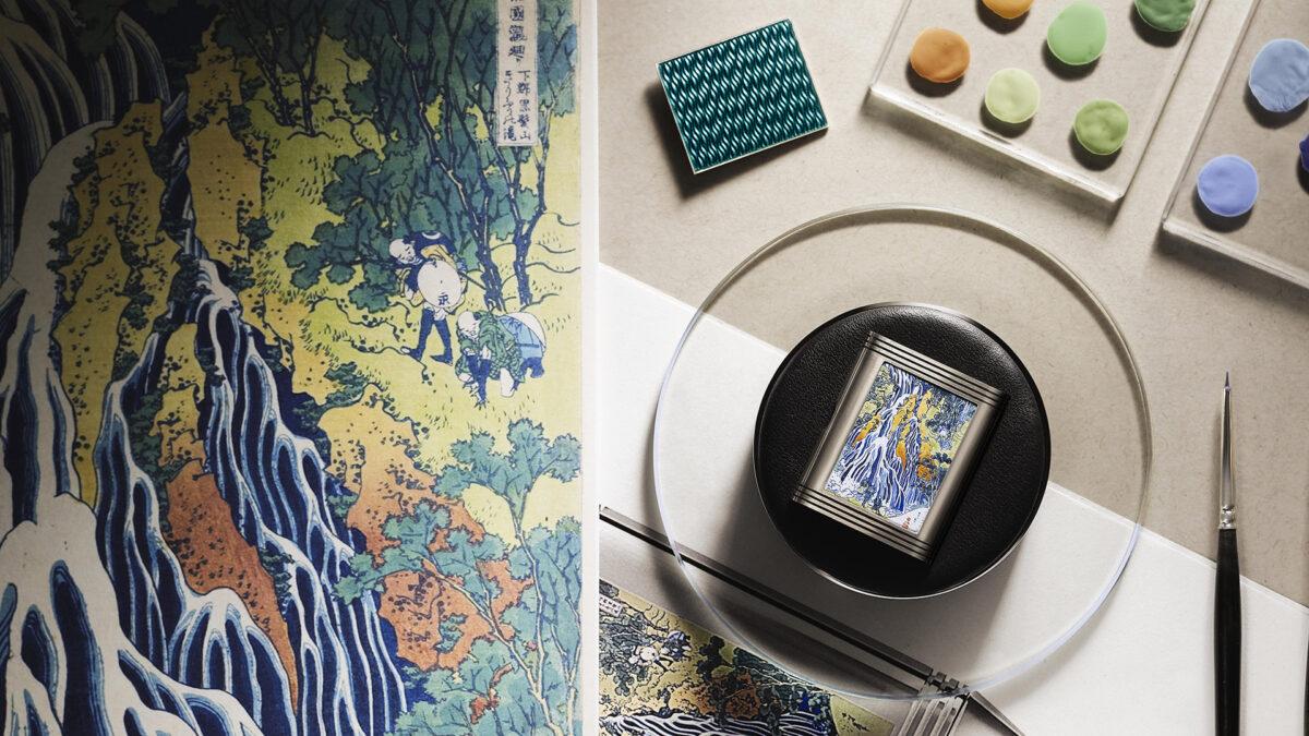 Jaeger LeCoultre Reverso Tribute Enamel Hokusai 'Kirifuri Waterfall1