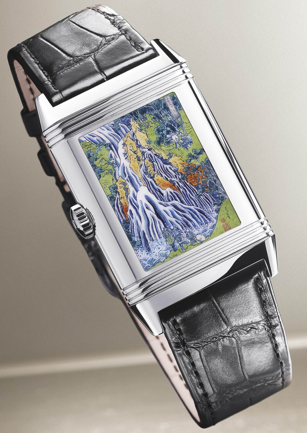 Jaeger LeCoultre Reverso Tribute Enamel Hokusai 'Kirifuri Waterfall2